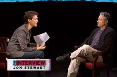 Does Jon Stewart's Satirical Newscast Still Get a Pass That Rachel Maddow & Co. Do Not?