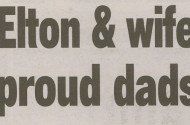 New York Post Congratulates Elton John And His ... Wife