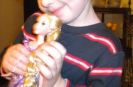C.J. and his soulmate, Tangled's Rapunzel. Christmas Day 2010.