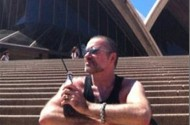 No, George Michael Isn't iPhone Cruising Around Australia