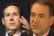 Rick Santorum + Mike Huckabee Compete To Say Stupider Things About Gay Marriage