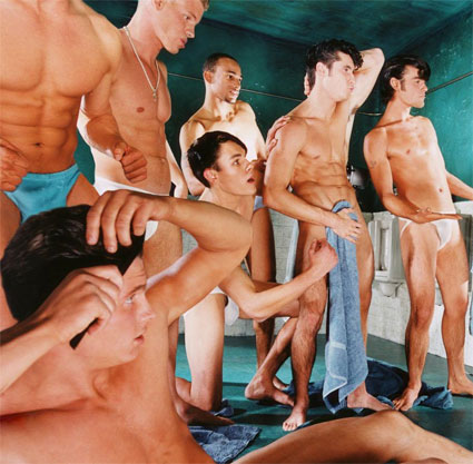 Gay porn in the locker room