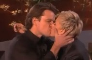 Ellen DeGeneres Puts Her Mouth On Matt Damon's Member