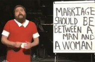 Zach Galifianakis' Qualified Support For Gay Marriage