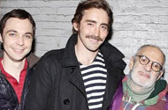 Have These Two Not Entirely Out Actors Outed Themselves By Posing With Larry Kramer At His Gay Play?