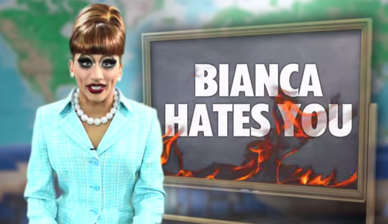 Be A Part of Bianca Del Rio's New Web Series 'Bianca Hates You'