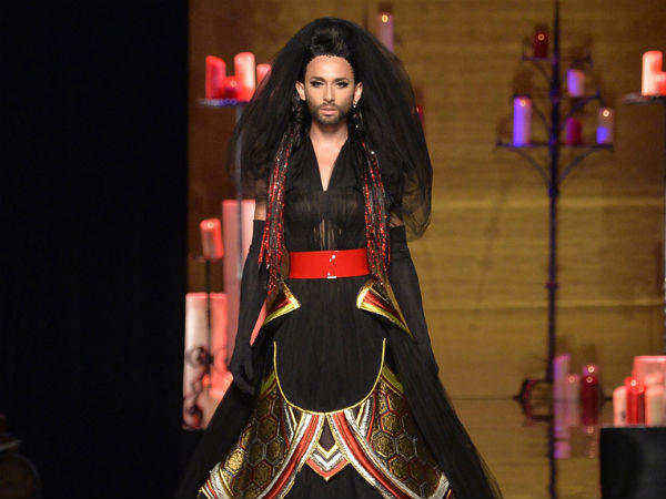 Conchita Wurst Closes Jean Paul Gaultier's Paris Fashion Show