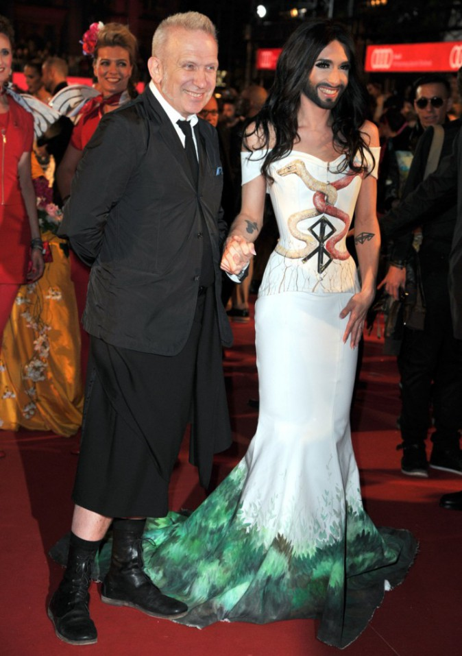 Conchita-Wurst-Jean-Paul-Gaultier Life Ball 2014 Red Carpet