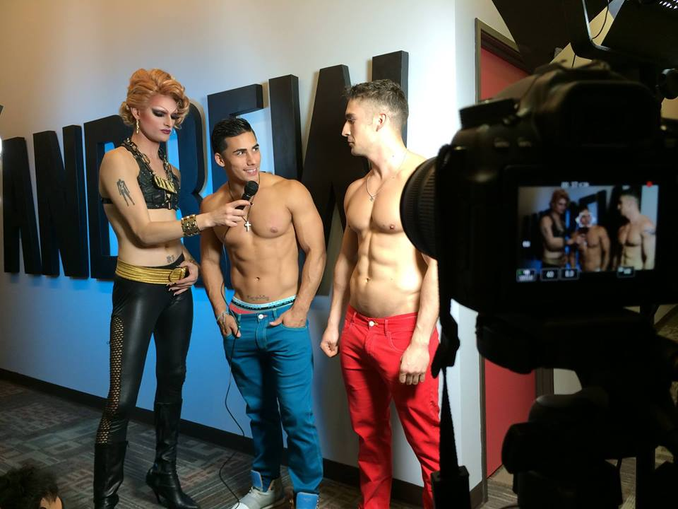 Watch: Rhea Litre Interviews Topher DiMaggio and Other Sexy Andrew Christian Underwear Models