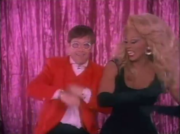 Flashback: RuPaul and Elton John Sing 'Don't Go Breaking My Heart'