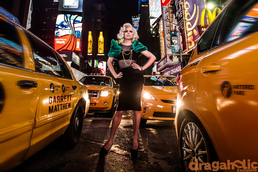 WEB Courtney Act RuPauls Drag Race Season 6 Boys Like Me 6 color playing in traffic