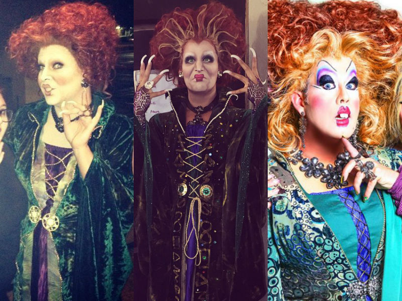 Shannel Roxxxy Andrews Peaches Christ Winifred Sanders Halloween Hocus Pocus Drag Queens Makeup RuPaulu0027s Drag Race  sc 1 st  Queerty & Who Wore It Better? Halloween Edition: Winifred Sanderson and Greta ...