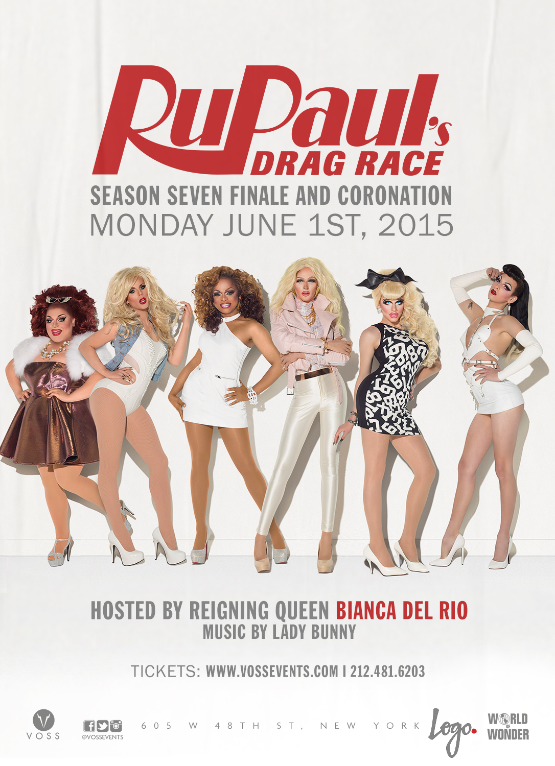 RuPaul's Drag Race Season 7 Winner to be Crowned Live in New York June 1st