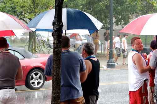 Raining on Atlanta's Parade