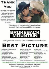 brokeback Variety Ad