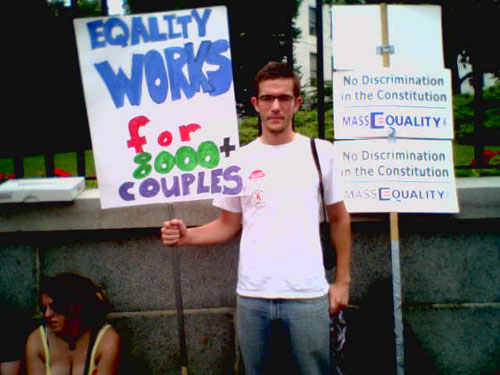 Queerty Exclusive: On The Scene In Front of Massachusetts State House