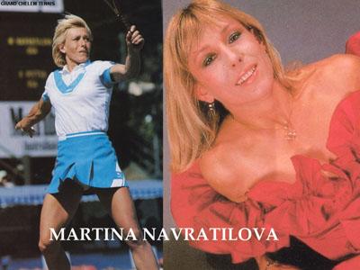 Martina Navratilova glamour